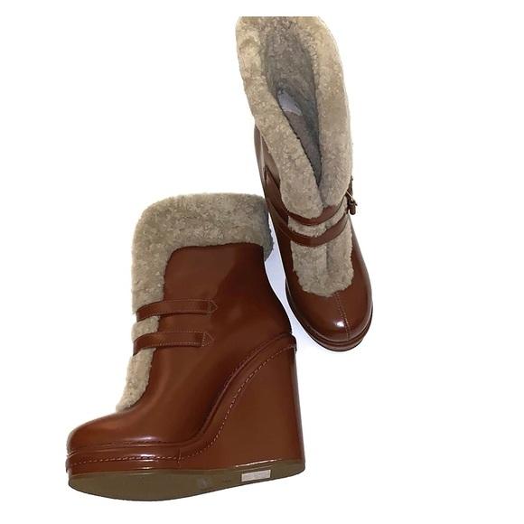 Marc By Marc Jacobs Shoes - Marc by Marc Jacobs Faux Fur wedge boot